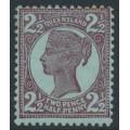 AUSTRALIA / QLD - 1899 2½d brown-purple/blue QV side-face, crown Q watermark, MH – SG # 238