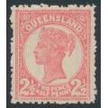 AUSTRALIA / QLD - 1892 2½d rose QV side-face, crown Q watermark, MH – SG # 214