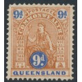 AUSTRALIA / QLD - 1903 9d brown/ultramarine Commonwealth (type B), V crown watermark, MH – SG # 266