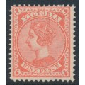 AUSTRALIA / VIC - 1895 9d carmine-rose Queen Victoria with crown V watermark, MH – SG # 320