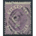 AUSTRALIA / VIC - 1878 2d dull violet-mauve on green QV, perf. 13, V crown watermark, used – SG # 199