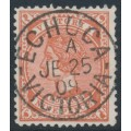 AUSTRALIA / VIC - 1908 9d red-brown Queen Victoria, perf. 12½, crown A watermark, used – SG # 424b