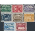 AUSTRALIA / TAS - 1900 ½d to 6d Pictorials set of 8 with TAS watermark, MH – SG # 229-236