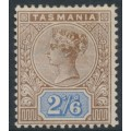 AUSTRALIA / TAS - 1892 2/6 brown/blue Queen Victoria tablet, MH – SG # 222