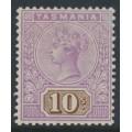 AUSTRALIA / TAS - 1892 10/- mauve/brown Queen Victoria tablet, mint hinged – SG # 224