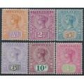 AUSTRALIA / TAS - 1892 ½d to 1/- Queen Victoria Tablet short set of 6, MH – SG # 216-221