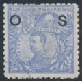 AUSTRALIA / NSW - 1890 20/- cobalt-blue Governors, overprinted OS, CTO – SG # O48