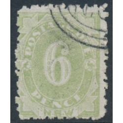 AUSTRALIA / NSW - 1893 6d green Postage Due, perf. 10:10, reversed watermark, CTO – ACSC # ND30a