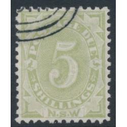AUSTRALIA / NSW - 1891 5/- green Postage Due, perf. 11:12, CTO – SG # D8b