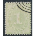 AUSTRALIA / NSW - 1900 1d green Postage Due, perf. 11:12, chalk-surfaced paper, CTO – SG # D12b