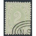 AUSTRALIA / NSW - 1900 2d green Postage Due, perf. 11:12, chalk-surfaced paper, CTO – SG # D13b
