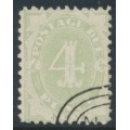 AUSTRALIA / NSW - 1900 4d green Postage Due, perf. 11:11, chalk-surfaced paper, CTO – SG # D15