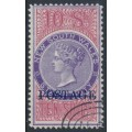 AUSTRALIA / NSW - 1894 10/- violet/claret STAMP DUTY overprinted POSTAGE, perf. 12:12, CTO – SG # 275