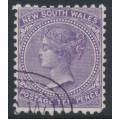 AUSTRALIA / NSW - 1897 10d violet QV, crown NSW watermark, perf. 11:12, CTO – SG # 236e