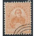 AUSTRALIA / NSW - 1888 4d yellow-brown Captain Cook, perf. 12:11½, CTO – SG # 255f