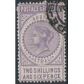 AUSTRALIA / SA - 1886 2/6 dull violet Long Tom, POSTAGE & REVENUE, perf. 11½, CTO – SG # 195a