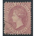 AUSTRALIA / SA - 1900 9d rose-lilac QV, broad star watermark, perf. 11½:11½, CTO – SG # 124