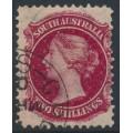 AUSTRALIA / SA - 1898 2/- rose-carmine QV, broad star watermark, perf. 12:11½, CTO – SG # 134