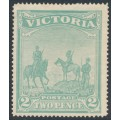 AUSTRALIA / VIC - 1900 2d (2/-) emerald-green Anglo-Boer War Patriotic Fund, MH – SG # 375