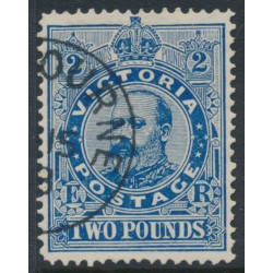 AUSTRALIA / VIC - 1902 £2 deep blue KEVII, perf. 12½:12½, V crown watermark, CTO – SG # 400