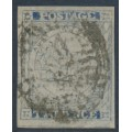 AUSTRALIA / NSW - 1851 2d Prussian blue Sydney Views, plate IV, Victorian cancel, used – SG # 32