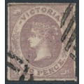 AUSTRALIA / VIC - 1858 2d dull violet QV, rouletted, horizontally laid paper, used – SG # 70a