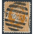 AUSTRALIA / VIC - 1903 3d yellowish brown QV, perf. 11:11, sideways V crown watermark, used – SG # 405a