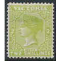 AUSTRALIA / VIC - 1890 2/- apple-green Queen Victoria, V crown watermark, MH – SG # 304