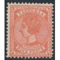 AUSTRALIA / VIC - 1901 9d pale red Queen Victoria, V crown watermark, perf. 12½, MH – SG # 393b