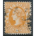 AUSTRALIA / VIC - 1903 3d dull orange-brown QV, sideways V crown watermark, perf. 12½, used – SG # 389ba