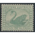 AUSTRALIA / WA - 1885 ½d green Swan with crown CA watermark, MNH – SG # 94