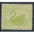 AUSTRALIA / WA - 1903 8d apple green Swan, sideways V crown watermark, perf. 12½, MH – SG # 121