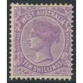AUSTRALIA / WA - 1902 10/- deep mauve Queen Victoria, V crown watermark, perf. 12½, MH – SG # 127