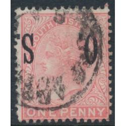 AUSTRALIA / SA - 1899 1d rosine Queen Victoria, inverted O.S. overprint, used – SG # O81a