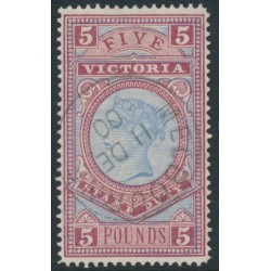 AUSTRALIA / VIC - 1888 £5 pale blue/maroon Stamp Duty, CTO – SG # 324