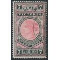 AUSTRALIA / VIC - 1889 £7 rosine/black Stamp Duty, CTO – SG # 326