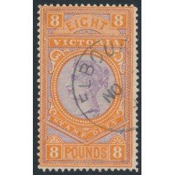 AUSTRALIA / VIC - 1890 £8 mauve/brown-orange Stamp Duty, CTO – SG # 327