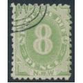 AUSTRALIA / NSW - 1891 8d green Postage Due, perf. 10:10, CTO – SG # D7