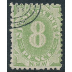 AUSTRALIA / NSW - 1891 8d green Postage Due, perf. 10:10, CTO – SG # D7