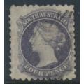 AUSTRALIA / SA - 1871 4d dull lilac QV, perf. 10:10, V crown watermark, used – SG # 111