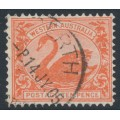 AUSTRALIA / WA - 1903 10d red Swan, perf. 12½, sideways V crown watermark, used – SG # 123