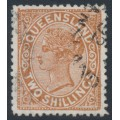 AUSTRALIA / QLD - 1890 2/- red-brown QV side-face, used – SG # 197