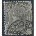 AUSTRALIA / TAS - 1870 10d black Queen Victoria, perf. 12:12, '10' watermark, CTO – SG # 131