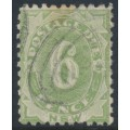 AUSTRALIA / NSW - 1891 6d green Postage Due, perf. 10:10, used – SG # D6