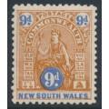 AUSTRALIA / NSW - 1905 9d brown/ultramarine Commonwealth, A crown watermark, MH – SG # 352