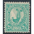 AUSTRALIA / NSW - 1905 2/6 blue-green Lyrebird, perf. 12:11½, crown A watermark, MH – SG # 349