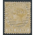 AUSTRALIA / WA - 1879 1d bistre Telegraph Stamp, perf. 14, used – SG # T1