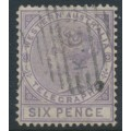 AUSTRALIA / WA - 1879 6d lilac Telegraph Stamp, perf. 14, used – SG # T2