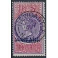 AUSTRALIA / NSW - 1894 10/- violet/claret STAMP DUTY, o/p POSTAGE, perf. 12:12, used – SG # 275