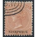 AUSTRALIA / NSW - 1897 9d on 10d red-brown QV Diadem, perf. 12:12, CTO – SG # 236db